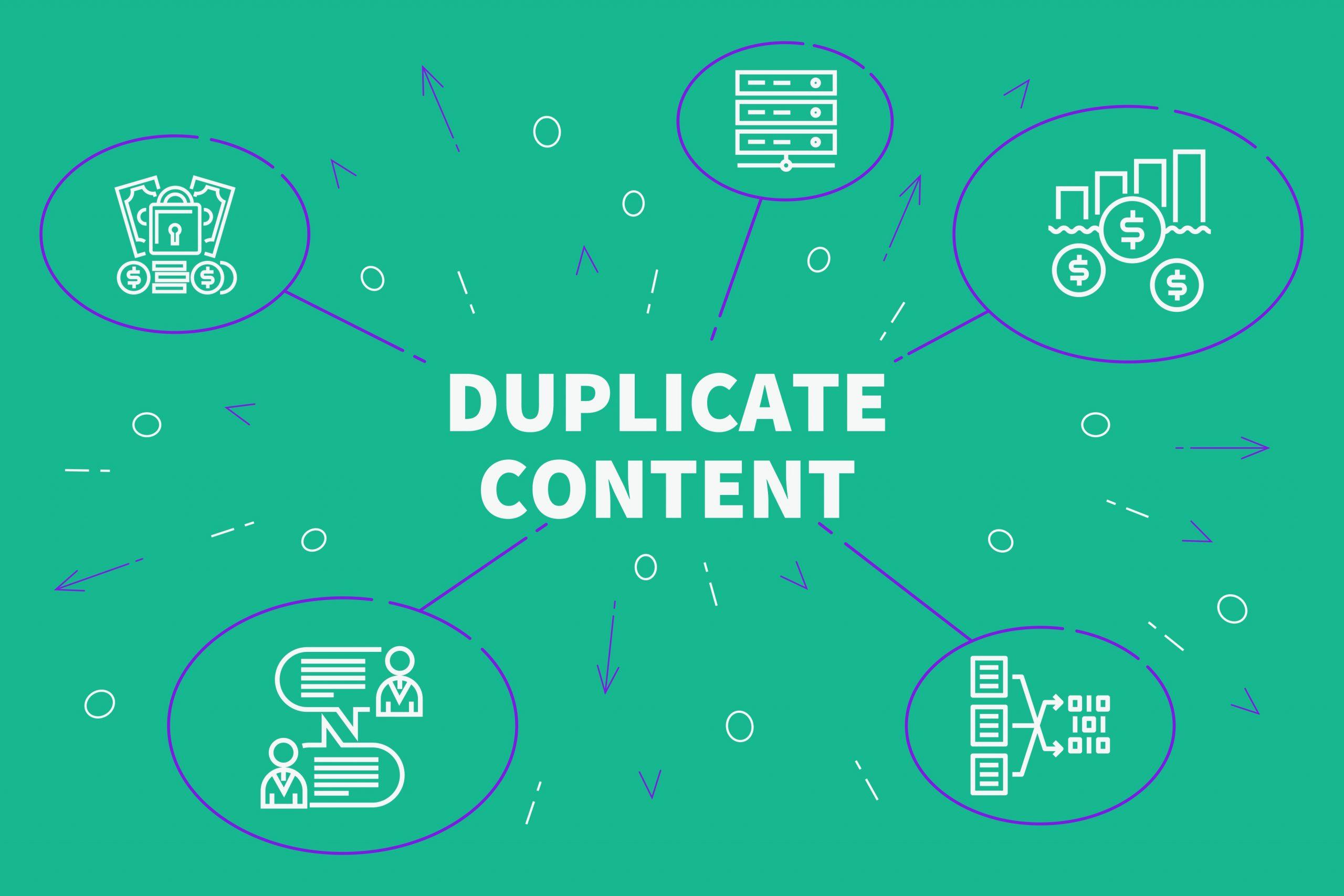 Duplicate content illustration